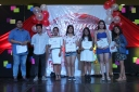 THE LUCKY FIVE. the Silliman Idol top 5 were chosen during the songs-of-90s-inspired semi-final round last Aug. 7 at Robinson's Place Dumaguete. .(L-R)Charles Bryan Aton (second from the left), Penelope Jan Bautista, Sun Reong ok, Quin Marie Quidet, and Charyn Ong. Photo by Hannah Diane Bengco